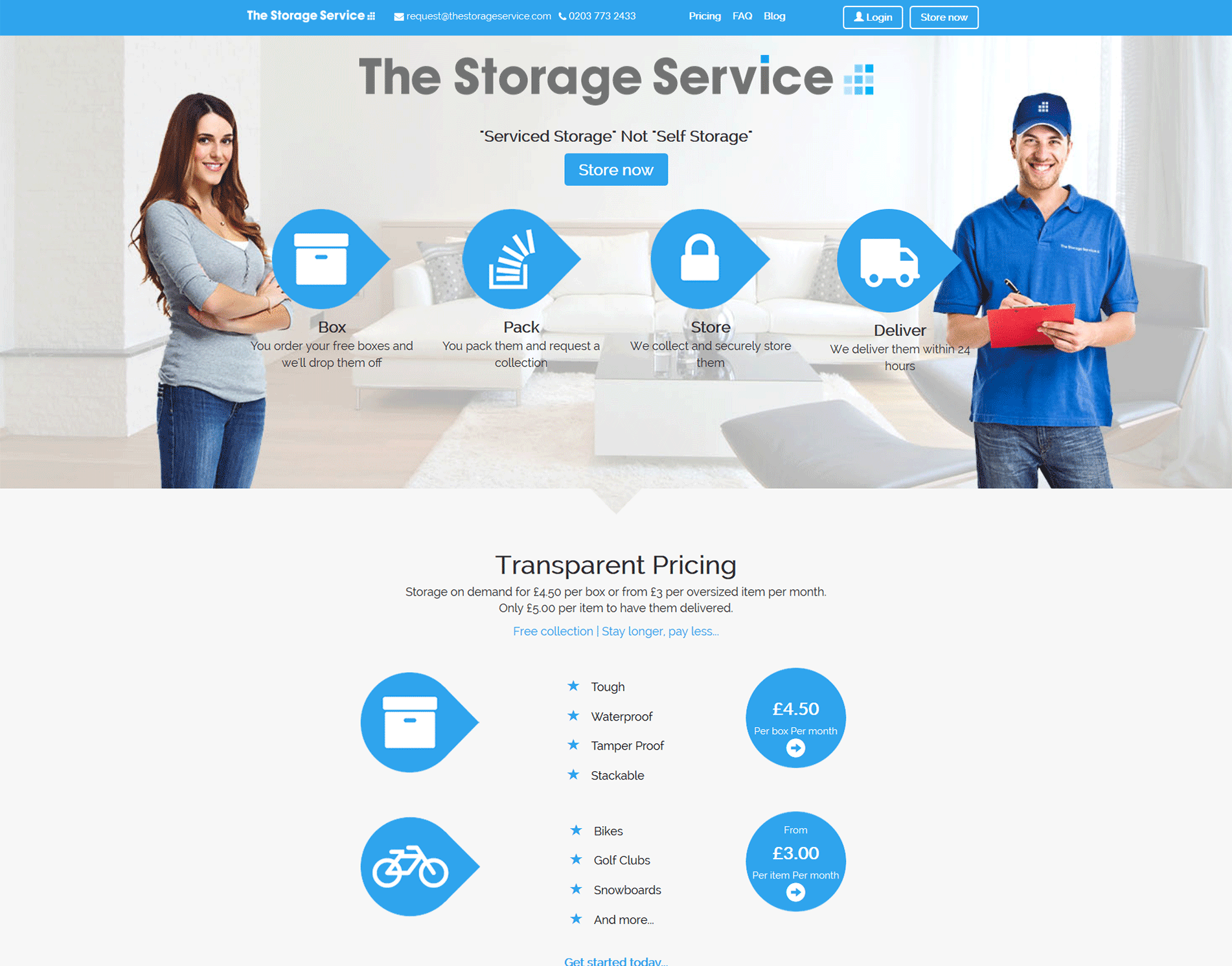 The Storage Service - Homepage