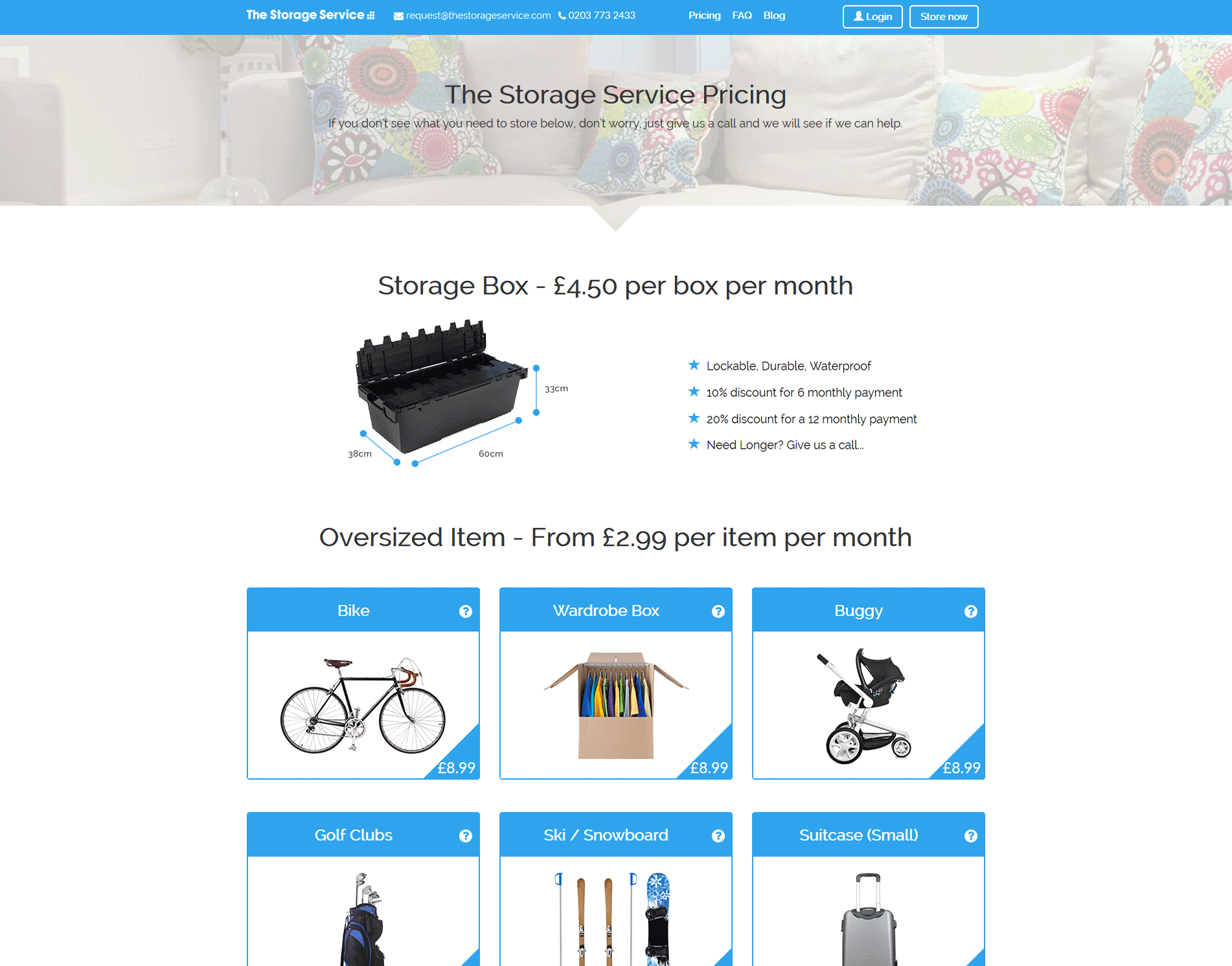 The Storage Service - Pricing